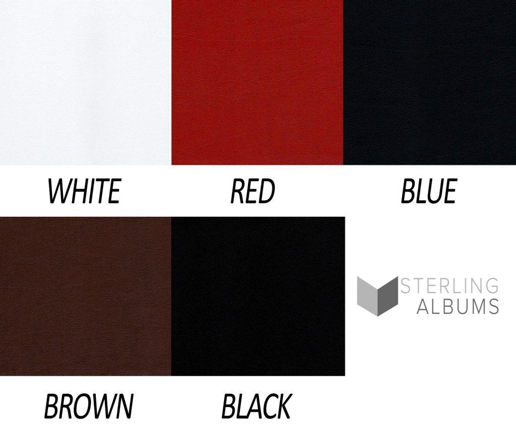 wedding, album, leather colours, layflat, samples,